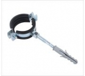 Heavy Pipe Clamp With Rubber With Hanger Bolt And Plastic Anchor
