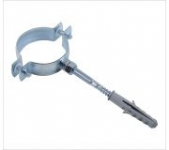 Heavy Pipe Clamp Without Rubber With Hanger Bolt And Plastic Anchor