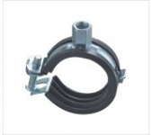 Heavy Pipe Clamp With Rubber One Screw Fixing